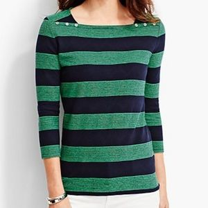 Talbots Tops - SALE! Navy & Kelly Rugby Style Top Tee Shirt